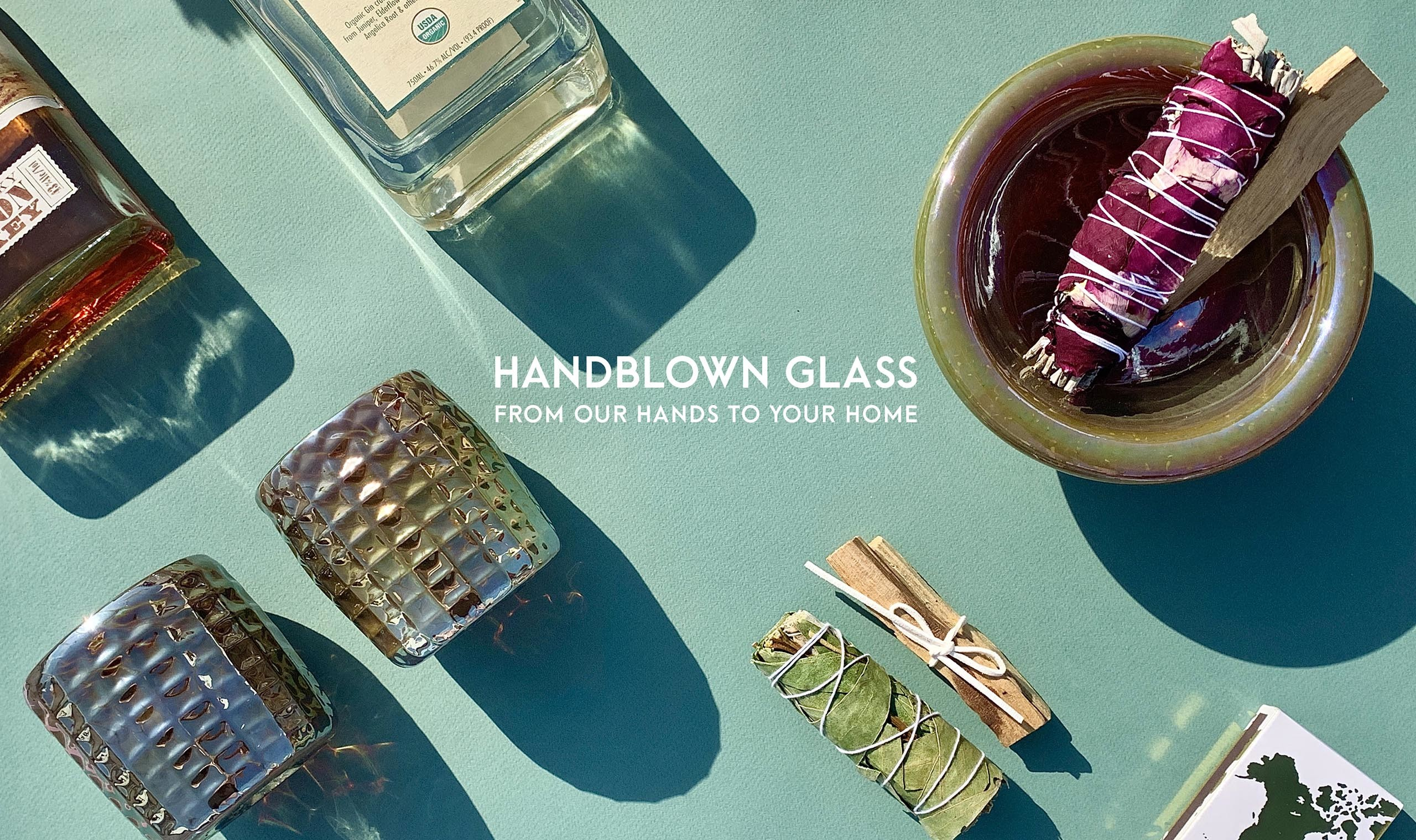 Handblown glass - from our hands to your home.